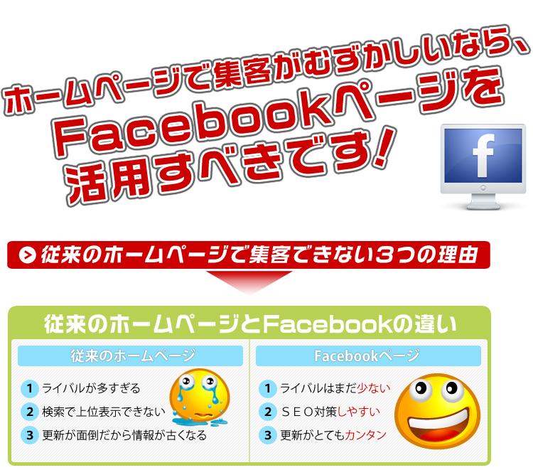 フェイスブックページを活用すべきです